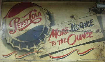 1950's Big Pepsi Metal Sign