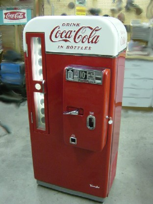 Restored vintage coke machines