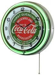 "Coca Cola Thurst 18"" Neon Clock"