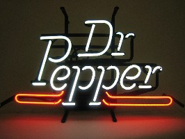 Dr Pepper neon