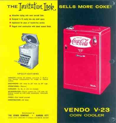 Coca Cola Vendo 23 from 1958