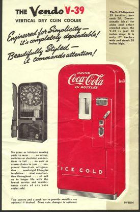 Coca Cola Vendo 39 brouchure